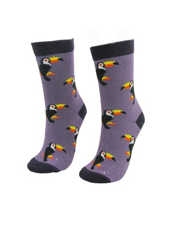 Socksturka Tropical Kuş Renkli Çorap