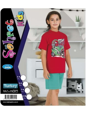 Şortlu Erkek Çocuk Takımı Lady 2406