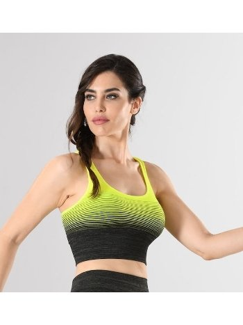 Sporcu Büstiyer Örme Seamless Dikişsiz Yoga Fitness Pilates Miss Fit 11177