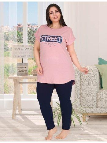 Street Büyük Beden Kadın Pijama Takımı Lady 10789