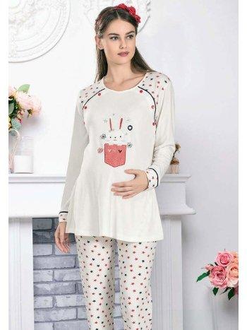 Tavşan Lohusa Hamile Pijama Takım FLZ 24-339