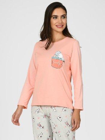 Tavşanlı Kadın Pijama Takımı NBB 67096
