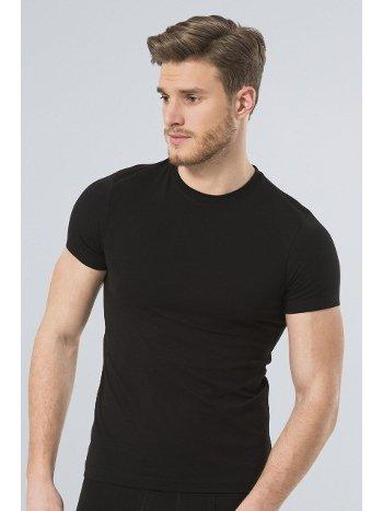 Türen Erkek Likralı T-Shirt 164/SİYAH
