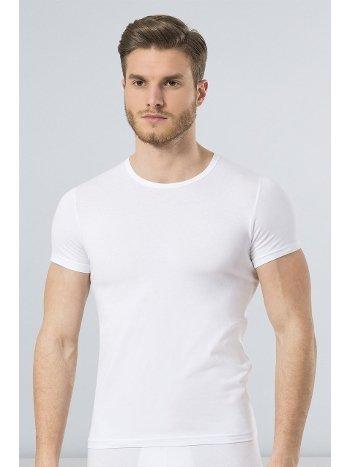 Türen Erkek Likralı T-Shirt 169/BEYAZ