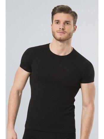 Türen Erkek Likralı T-Shirt 169/SİYAH
