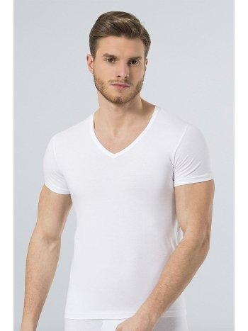 Türen Erkek Likralı T-Shirt 172/BEYAZ
