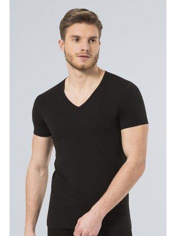 Türen Erkek Likralı T-Shirt 172/SİYAH