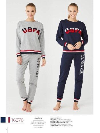 USPA Uzun Kollu Kalın Pijama Takımı U.S Polo Assn 16376