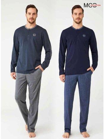 Uzun Kol Erkek Pijama Takımı Mod Collection 3339