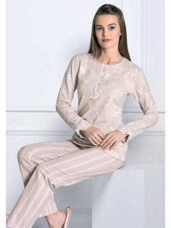 Uzun Kol Kışlık Pijama Takım FLZ 89-454