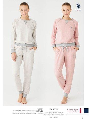 Uzun Kollu Kışlık Pijama Takım US Polo 16382