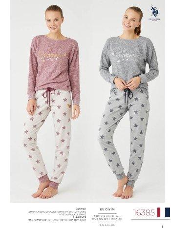 Uzun Kollu Kışlık Pijama Takım US Polo 16385