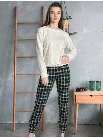 Uzun Kollu Kışlık Pijama Takımı Dowry 40-219