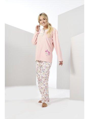 Uzun Kollu Penye Büyük Beden Pijama Takımı Estiva 20309