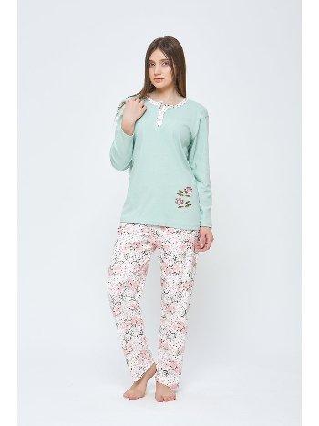 Uzun Kollu Penye Büyük Beden Pijama Takımı Estiva 20313