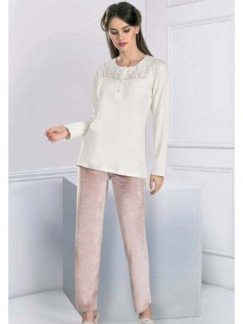 Uzun Kollu Sabahlıklı Pijama Takım FLZ 31-358