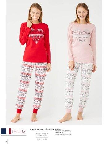 Uzun Kollu Pijama Takımı Kadın Us Polo Assn 16402