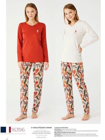 V Yaka Pijama Takım US Polo 16396