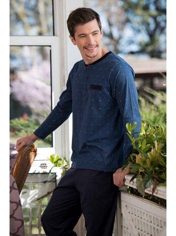 Viskon 2'li Erkek Pijama Takımı Yeni İnci EPJ730