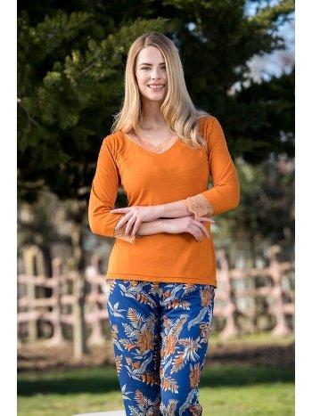 Viskon 2li Kadın Pijama Takımı Yeni İnci BPJ1580