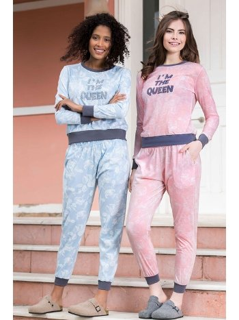 Viskon 2li Kadın Pijama Takımı Yeni İnci BPJ1636