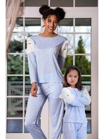Viskon Kadın Pijama Takımı Yeni İnci BPJ1618