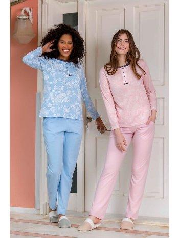 Viskon Kadın Pijama Takımı Yeni İnci BPJ1634