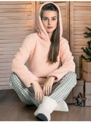 Welsoft Kapüşonlu Pijama Takımı Dowry 09-861