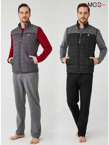 Yelekli Erkek Pijama Takım Mod Collection 3311