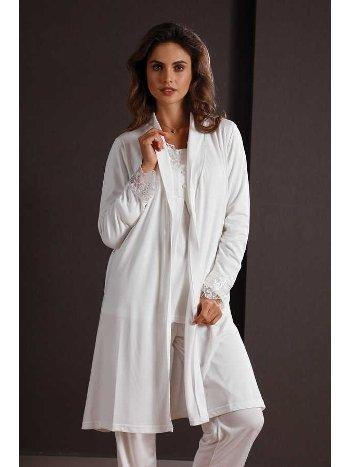 Yeni İnci BPJ105 Hamile Lohusa Sabahlıklı Pijama Takımı