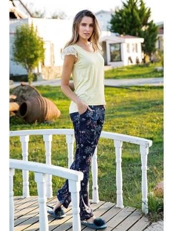 Yeni İnci BPJ1268 Omuz Dantelli Kadın Pijama Takım