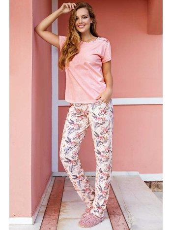 Yeni İnci BPJ1390 Viskon 2li Kadın Pijama Takım