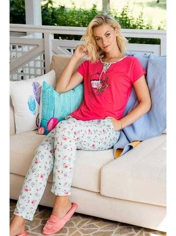 Yeni İnci BPJ1400 Nar Çiçeği Kadın Pijama Takım