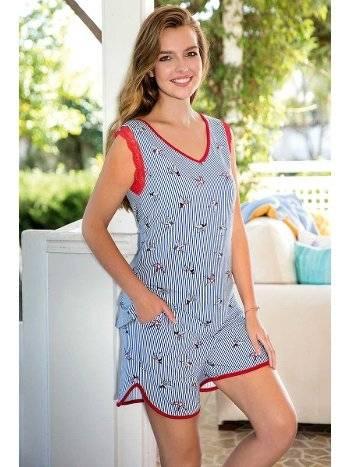 Yeni İnci BPJ1410 Askılı Viskon 2li Şort Pijama Takım