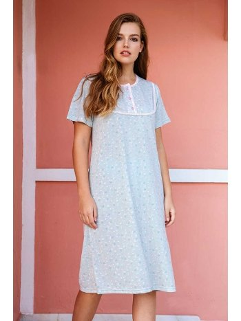 Yeni İnci BPJ1432 Kısa Kollu Kadın Gecelik Pijama