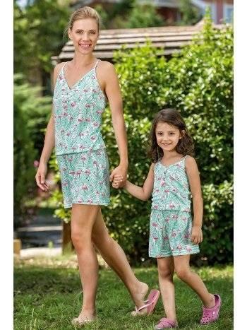 Yeni İnci BPJ1484 Kadın Askılı Şort Pijama Takım