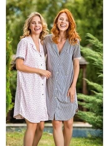 Yeni İnci BPJ1488 Kadın Viskon Gecelik Pijama