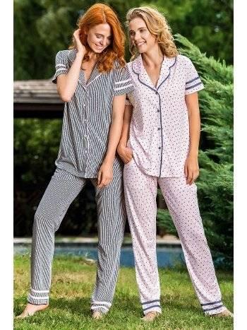 Yeni İnci BPJ1490 Kısa Kollu Kadın Pijama Takım