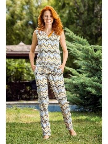 Yeni İnci BPJ1510 Viskon Üçlü Kadın Pijama Takım