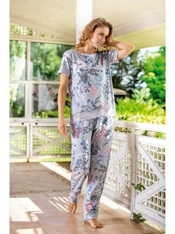 Yeni İnci BPJ1516 Kadın Viskon Pijama Takım