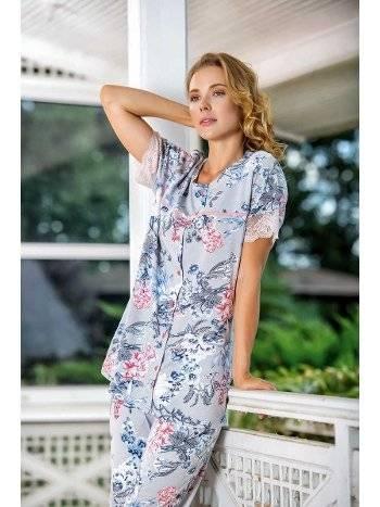 Yeni İnci BPJ1522 Önden Düğmeli Kadın Pijama Takım