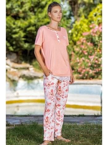 Yeni İnci Bpj1556 Kısa Kollu Viskon Pijama Takımı