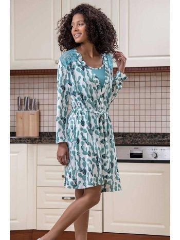 Yeni İnci BPJ1592 3'lü Viskon Kadın Pijama Takımı