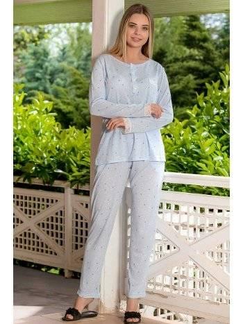 Yeni İnci BPJ1620 2'li Viskon Kadın Pijama Takımı