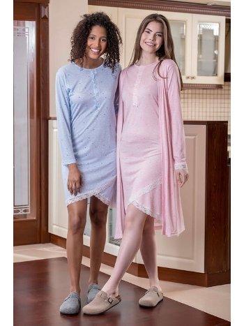 Yeni İnci BPJ1626 2'li Viskon Kadın Pijama Takımı