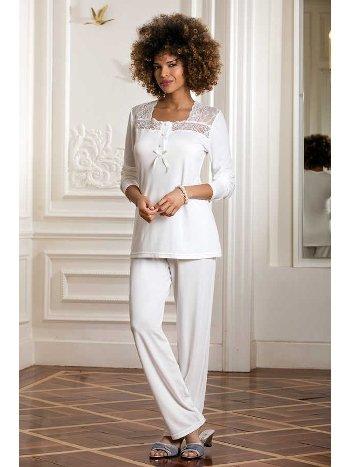 Yeni İnci BPJ164 Kadın Viskon Üçlü Takım Pijama
