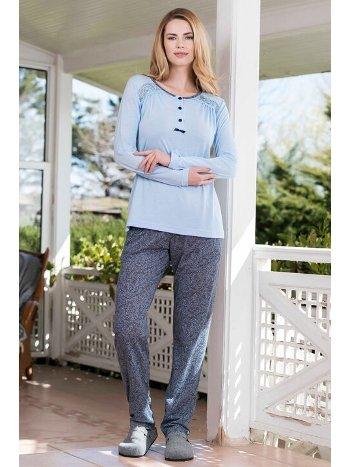 Yeni İnci BPJ1642 2'li Viskon Kadın Pijama Takımı