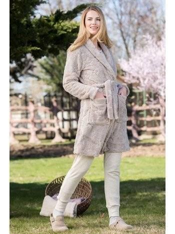 Yeni İnci BPJ1684 Polar Kadın Pijama Takımı