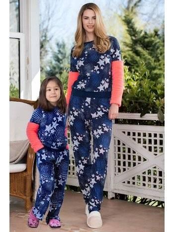 Yeni İnci CKP336 2'li Viskon Polar Kız Çocuk Pijama Takımı