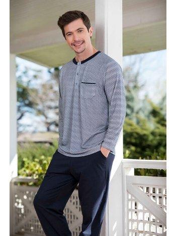 Yeni İnci EPJ744 2'li Viskon Erkek Pijama Takımı